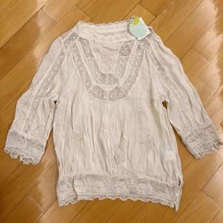 Franche Lippee brand new embroidery top