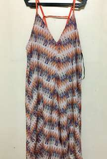REPRICED 🌸 Summer Dress with Orange Zigzag
