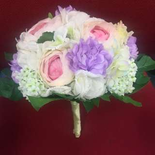 結婚 婚禮 新娘絲花球