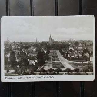 [lapyip1230] 戰時納粹德國明信片 1943年 希爾德斯姆城 黑白風景明信片