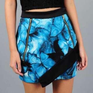 🚚 Joyeus Blue Floral Skirt #PayDay30