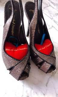 Jean Michel Cazabat black pink metalic Platform Heel Sandals