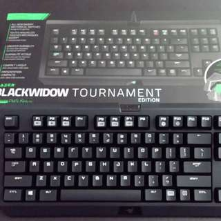 Razer BlackWidow Tournament Edition - Essential Mechanical Gaming Keyboard - Compact Layout - Tactile & Clicky Razer Green Switches