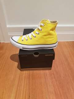Yellow High Top Converse | US 6