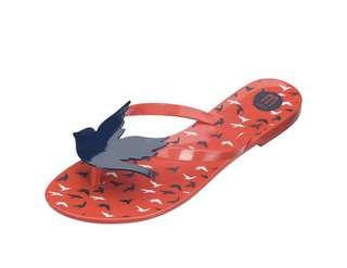 🚚 Melissa 香香鞋 巴西尺寸35,36,37(Mel 愛與和平夾腳平底拖鞋-紅色)
