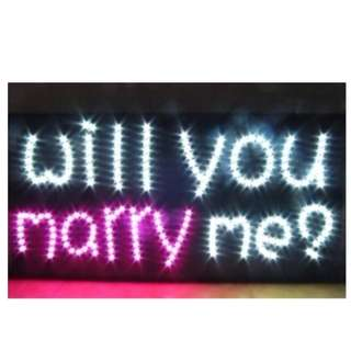訂做LED求婚燈牌(包送貨)求婚牌廣告牌訂做演唱會歌迷會牌追星明星韓星
