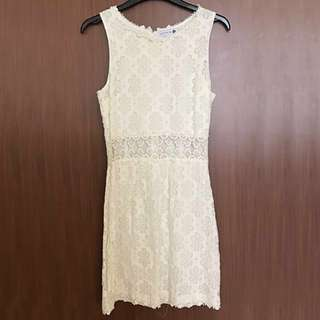 Cotton On White Embroidery Dress