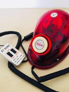🚚 早期360度警示燈蜂鳴器警用警察車用鳴笛燈龜型燈