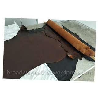 Crazy horse leather scraps, partial or full sheet