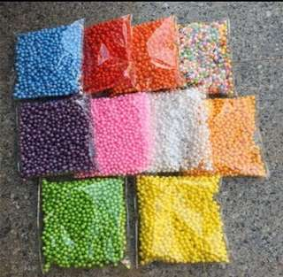 Large foam beads for slime