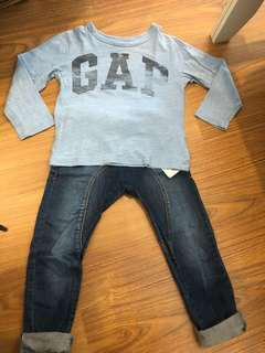 Gap top + pants other brand