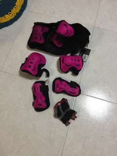 Skate and bicycle protection kit- knee elbow guard etc