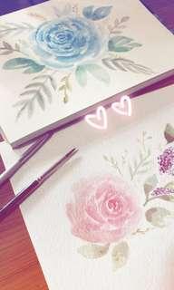 Watercolour postcard [Floral series] *customisable