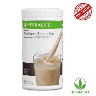 Herbalife Nutritional Shake Mix Cookies and Cream Canister 550g