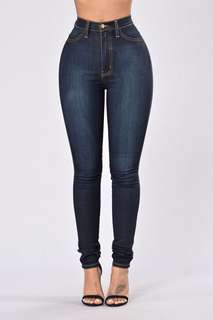 2x Fashionnova classic high waisted jeans size S AU 8