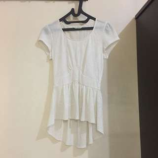 MISS SELFRIDGE White Flower Top