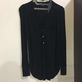 DOROTHY PERKINS Black Cotton Blouse