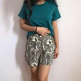 H&M Abstract Shorts