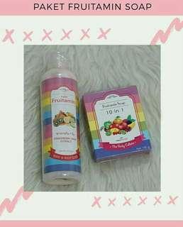 Fruitamin Soap & Body Scrub