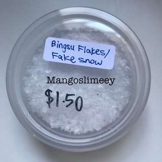 Bingsu flakes/ fake snow