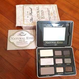 BNIB Too Faced Natural Eyes eyeshadow palette