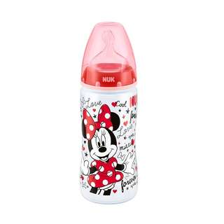 NUK Premium Choice Disney Polypropylene Bottle 300ml, Minnie Mouse, Pack of 1