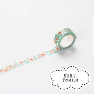 (#1-#2) Floral washi tape