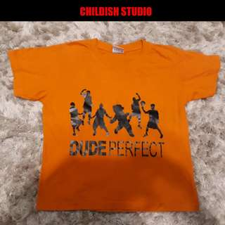 DUDE PERFECT Fanmade t-shirt for kids age 7-8 years old.