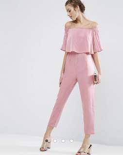 ASOS jumpsuit pink satin size UK6