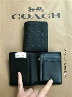 (Ready Stock) New Authentic Coach Men's Wallet