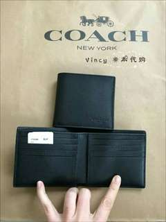 (Ready Stock) New Authentic Coach Men Wallet