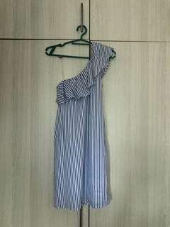 One sided ruffle dress