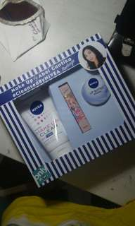 NEW abel cantika nivea package mizzu lipstick, nivea lip butter, nivea make up clear facial foam
