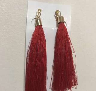 Red Tassel Dangling Earrings #PayDay30