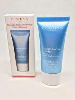 🌻💯AUTH -Clarins hydraQuench Cream-Mask 30ml