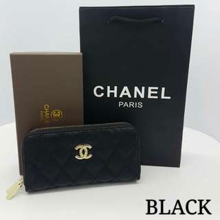 Chanel Zippy Purse Black