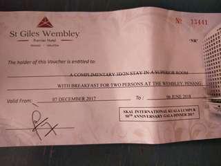 3D/2N stay at St Giles Wembley Penang