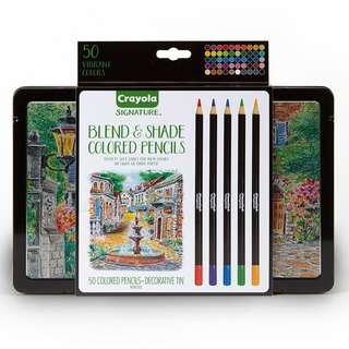 Crayola Signature Blend & Shade Colored Pencils Professional Coloring Kit 50ct