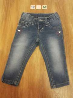 Denim pants for baby girls
