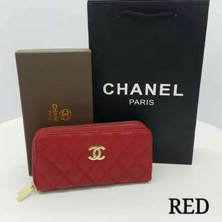 Chanel Zippy Purse Red