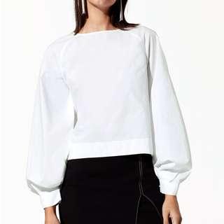 *PRICE DROP* Aritzia Babaton Niki blouse white small s Like new
