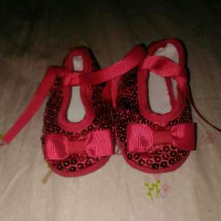 Sequined Red Shoes for Baby