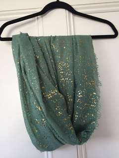 Gold specks scarf
