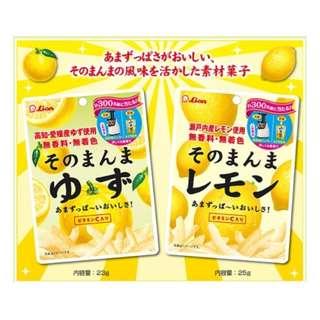 🚚 Kaeru Shop 《日本人氣零食》檸檬條/柚子條