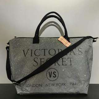 Victoria's Secret Tote Bag Grey Color