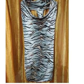 Twentyone tiger stripes body con dress