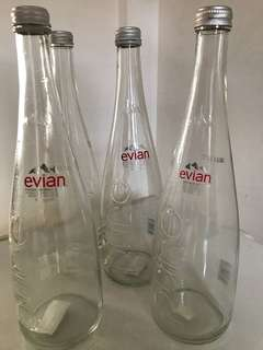 Evian Glass Bottles