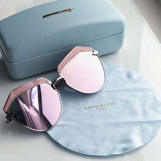 KAREN WALKER Jacinto Cat-Eye Acetate & Gold-Tone Sunglasses