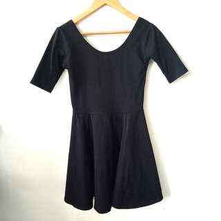 Black Dress with Threefourths sleeves