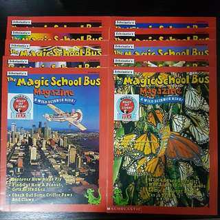 The Magic School Bus Magazine ( New Set ) + 2 Books of Science / Literature Unit and Lost In The Solar System